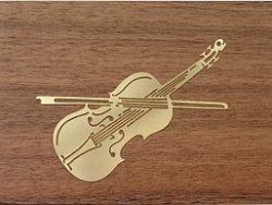 Jobin Muziekdoos 18-tonen messing decoratie Viool
