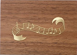 Jobin Muziekdoos 18-tonen messing decoratie notenbalk