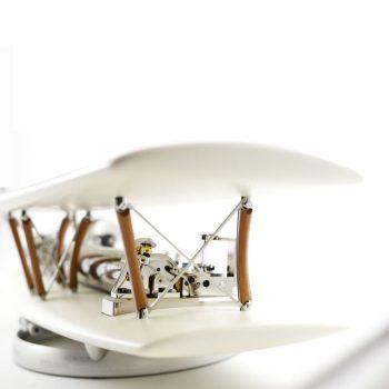Reuge Muziekdoos 144-tonen Biplane Wit