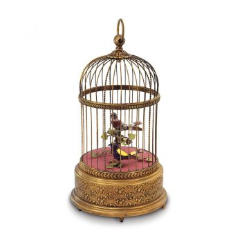 Reuge Muziekdoos vogel Volière de la cour antieke kooi