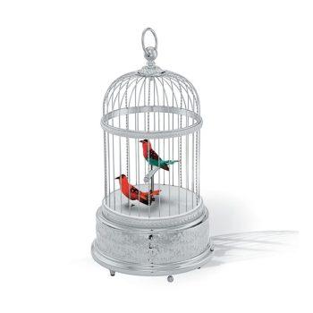 Reuge Muziekdoos vogel Volière de la cour Gerhodineerde kooi