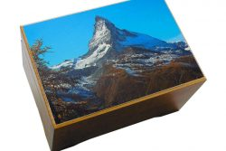 Jobin Muziekdoos met afbeelding 18-tonen berg Zwitserland